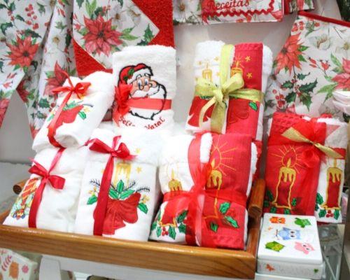 Toalhas e panos de natal para oferecer no Natal